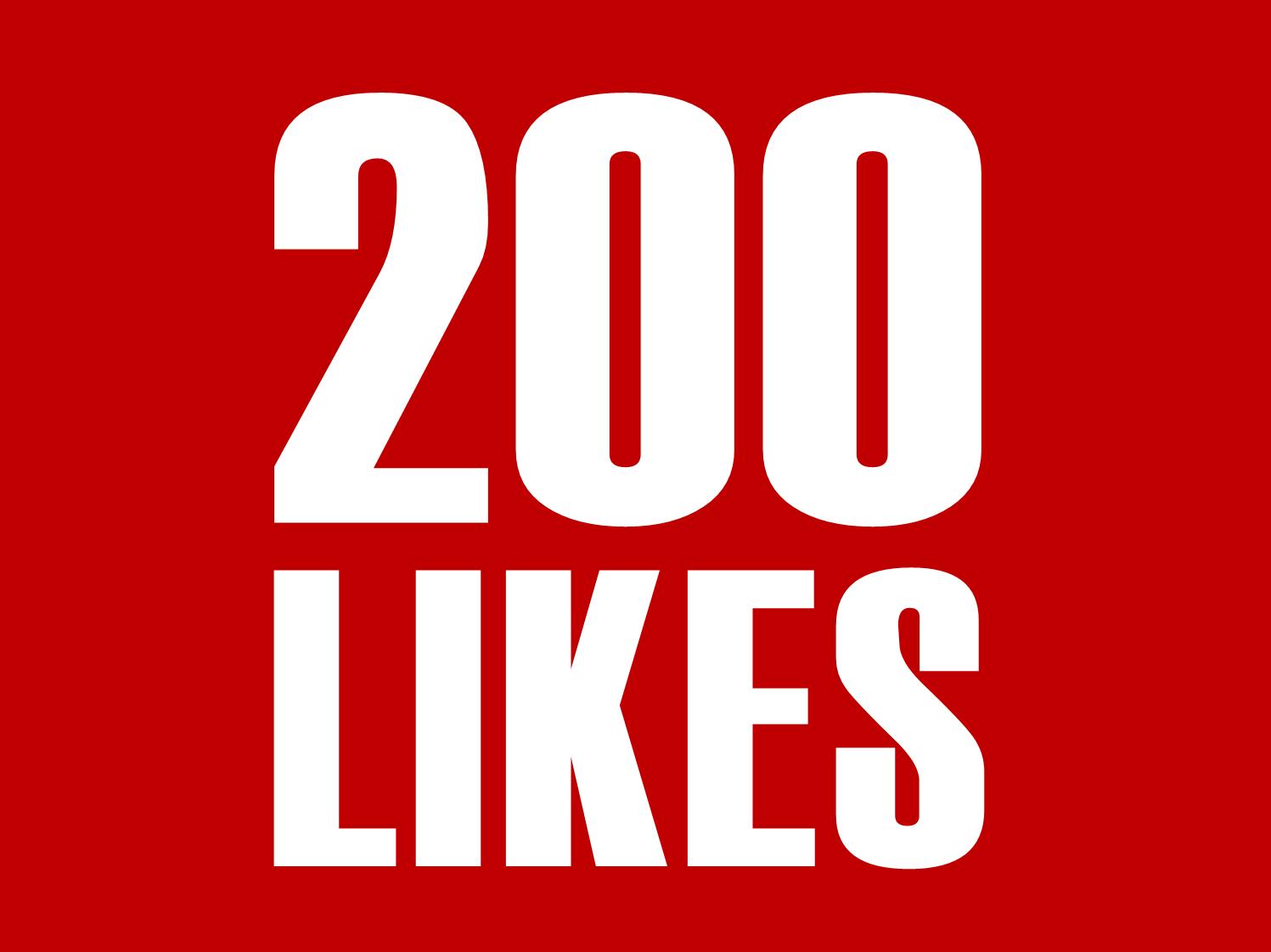 200 Youtube Likes INSTANT START !!