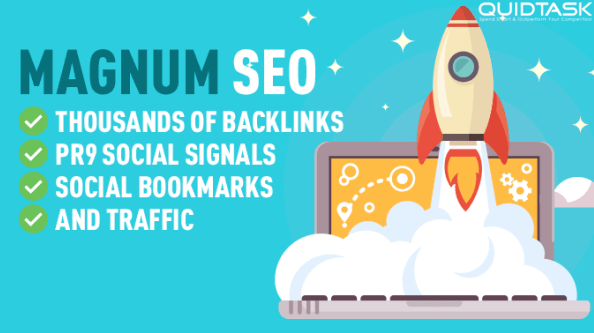 Magnum SEO - 10,000 Backlinks - 1500 PR9 Signals - UNLIMITED TRAFFIC - Bookmarks included with promotion on Social Media - 20,000+ orders completed