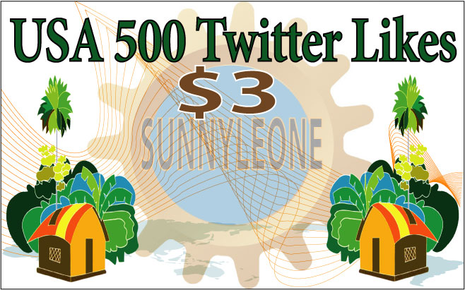 Give you 500 USA Twitter Likes
