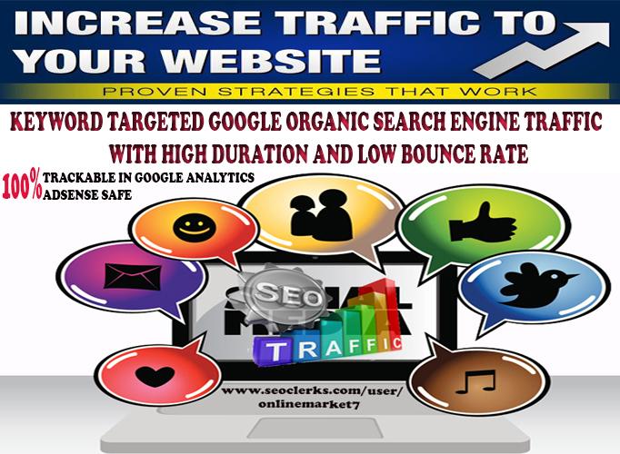 KEYWORD Targeted Google Organic TRAFFIC