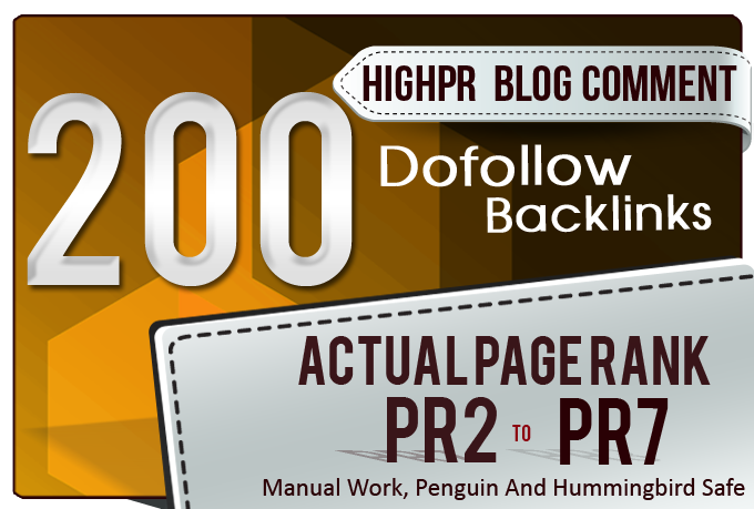 I will Manually Do 200 Blog Comments on HIGH DA PA