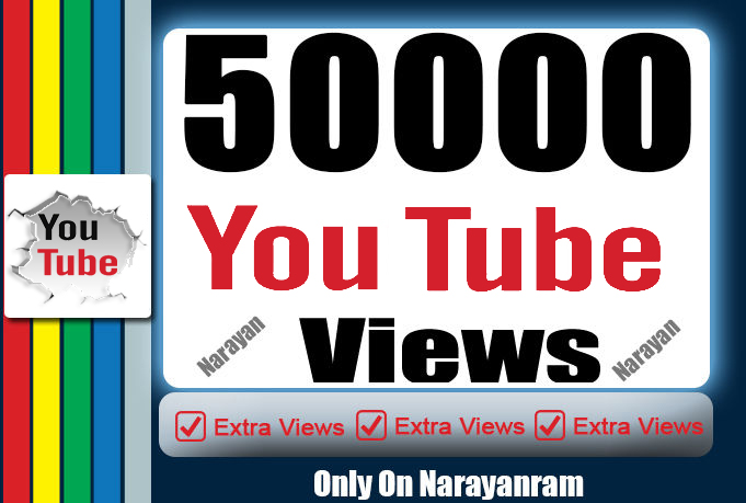 50000 (50k) High Quality YouTube Vie ws Fully safe Super Instant
