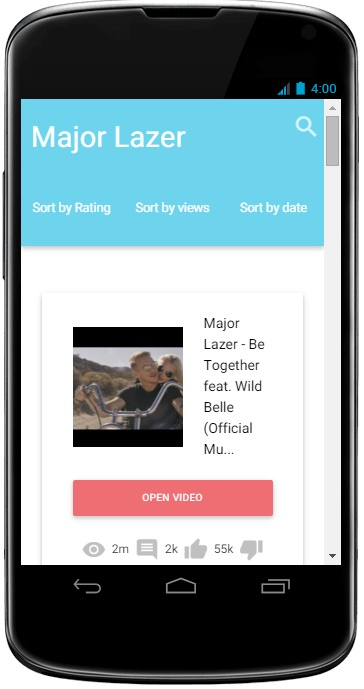 Build Youtube Android App from your channel