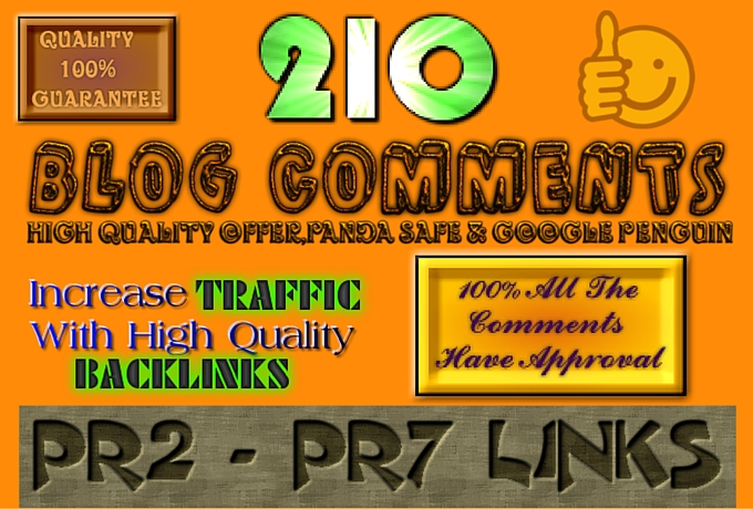I Will Create 210 Blog Comments On Actual Page Rank 2 To 7
