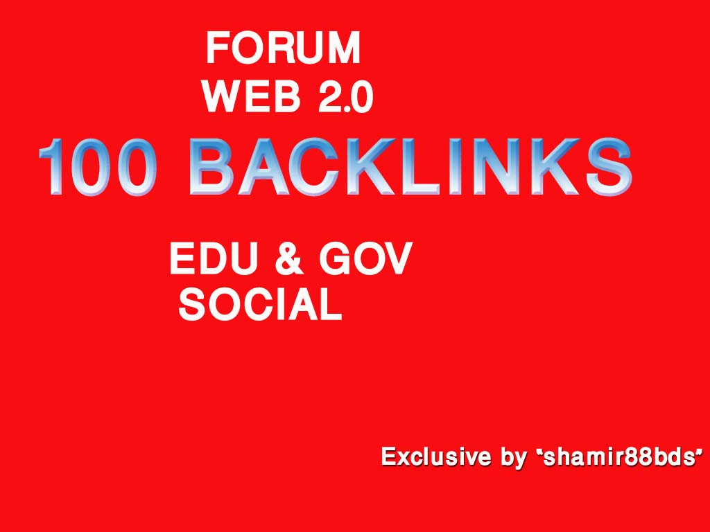 Manually 100 Authority Profile,  Forum,  Web 2.0,  Edu Profile & Social Profile - DA55-100