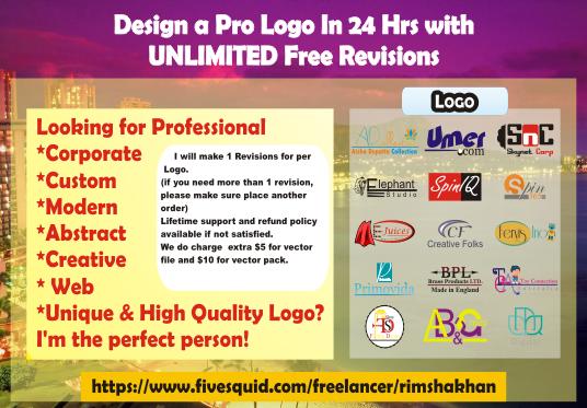 design innovative logo for your website