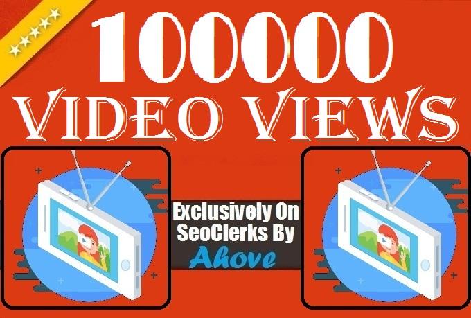 Get Instant 100000 or 100K Views In Social Media Video