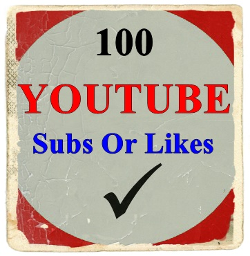 100 Youtube Subscriber Or 100 Likes  On Your Youtube Video