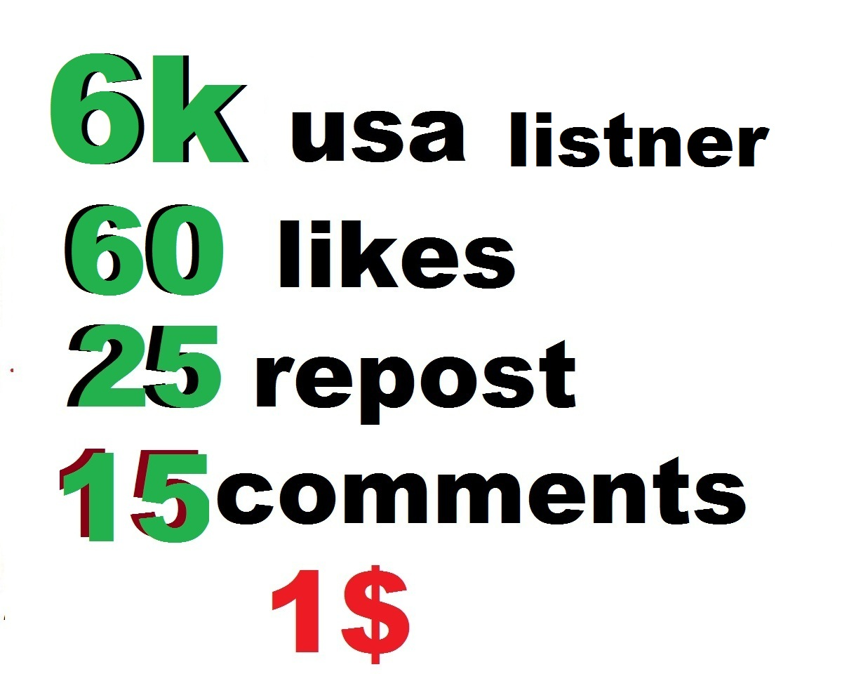 6000 usa music plays with 60 likes 25 reopst and 15 comments