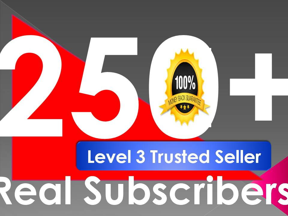 I will give you 250+ Real Non-Drop Subscribers  Or 80 Custom Comments  for your video