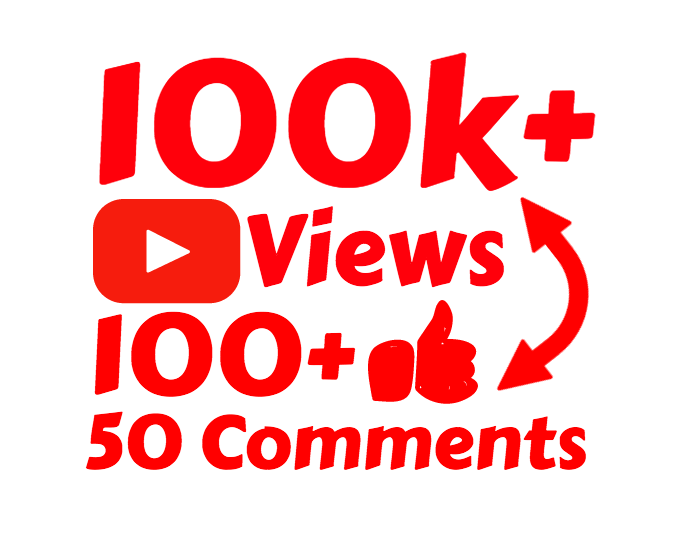 100k 100,000 High Quality views with 100 Likes and 50 Comments