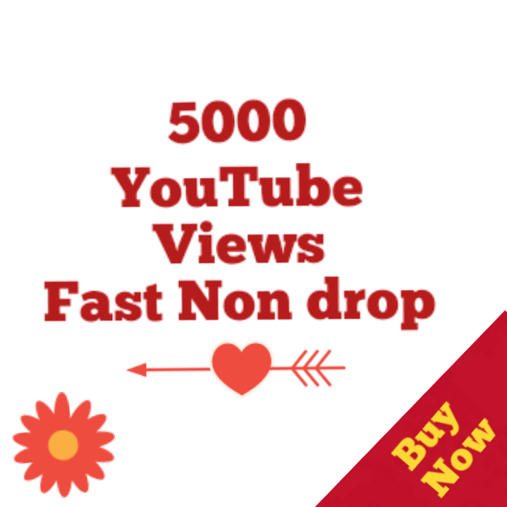 5000-5500 HQ Non drop Youtube Vie ws Bonus super speed within 12-72 hours