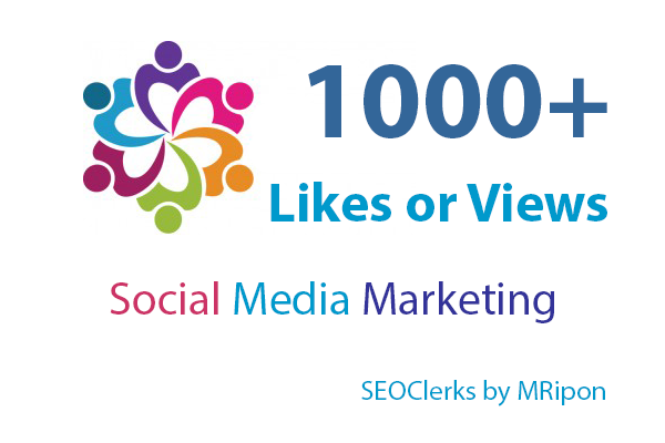 Get Instant 1000 High Quality Photo Post Likes or 1000 Video Views