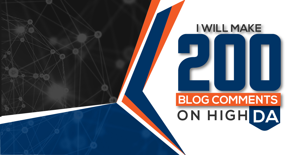 i will make 200 Blog Comments on High DA