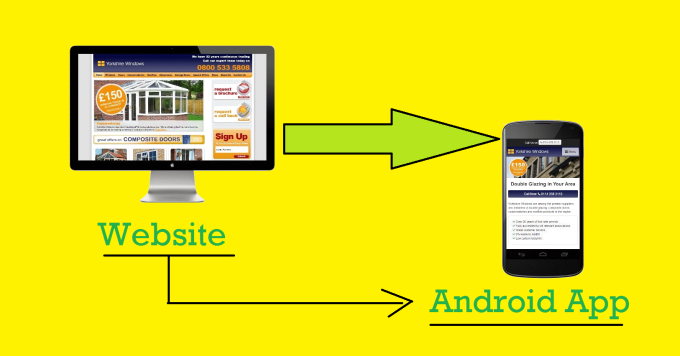 I will convert your website into an application ANDROID cool,  post on Google Play and more