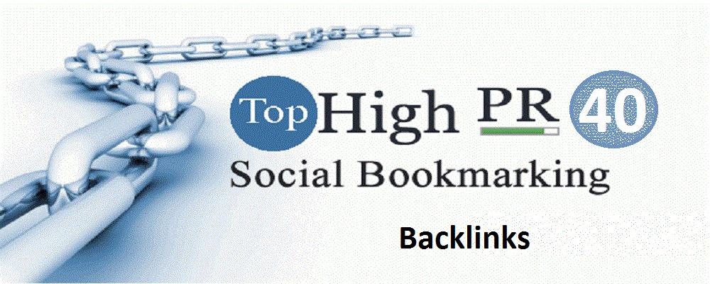 Top 40 Social Bookmarking Backlinks PR9, PR8, PR7 - With report