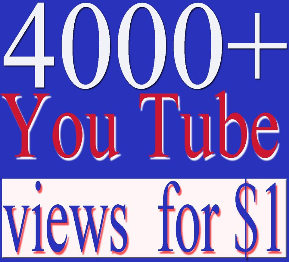 super fast high quality 4000 high retantion  youtube views