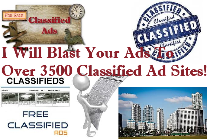I Will Submit Your CLASSIFIED Ads And Links To Over 5 Million Audience Through Advertising Sites