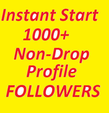 Add 1000+ Super Fast High Quality Profile Followers Fully Safe