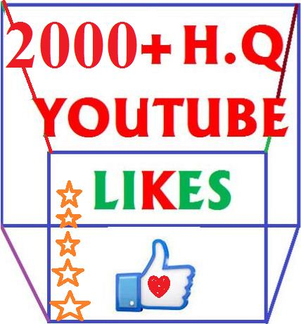 2000+ High Quality  youtube likes or 600 subscribes  very short times