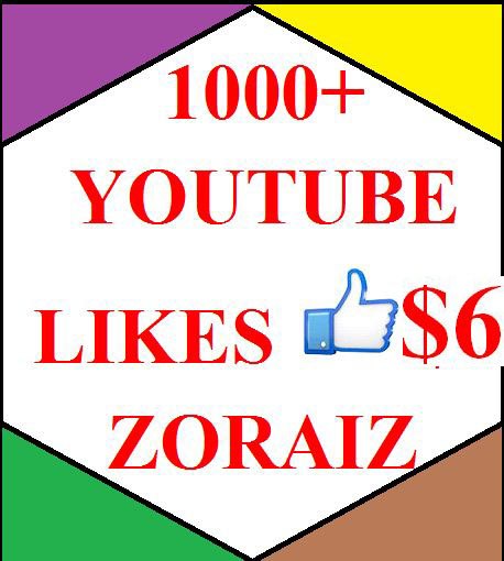 1000 youtube likes or 300 subscribes  only