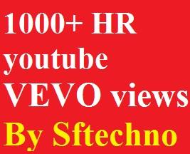 1000+ Youtube Vevo promotion non-drop guarantee