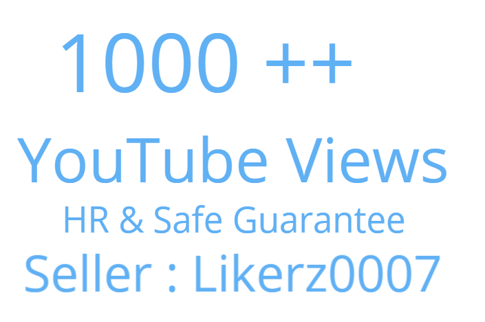 Get 1000 to 1500 High Retention and Safe YouTube Video Promotion