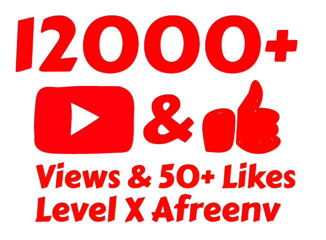 add 12,000+ High Retention Youtube View's and 50+ Like's in Just