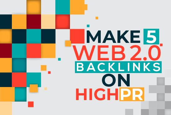 Make 5 web 2.0 Backlinks On high DA