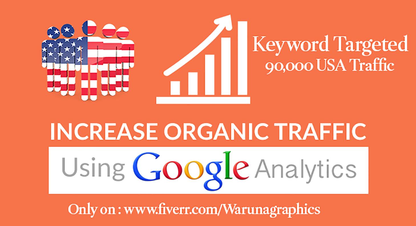 100,000 Keyword targeted Organic traffic from USA By Google Yahoo Bing