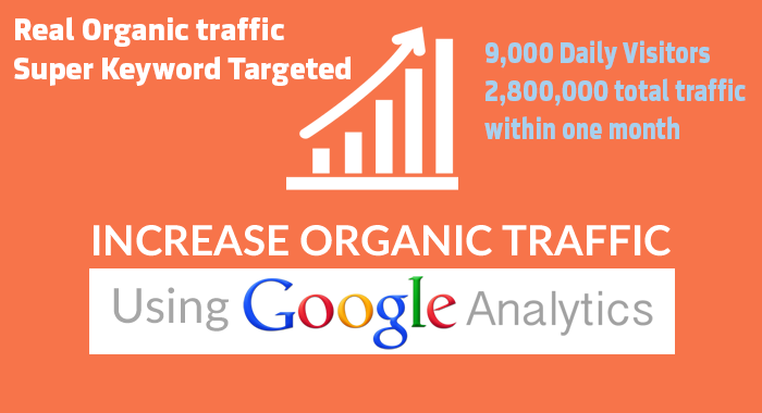 180,000 Keyword Targeted Organic Traffic with Low Bounce Rate within One month 6000 daily traffic