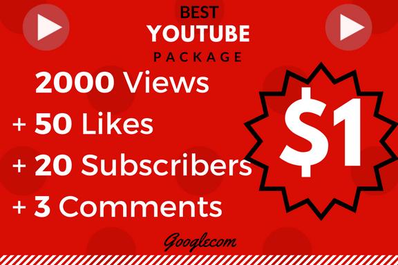 Lifetime 2000-3000 Monetizable_Vie_ws+ 10_Lik_es+ 10 Comnts+ 10 Subs