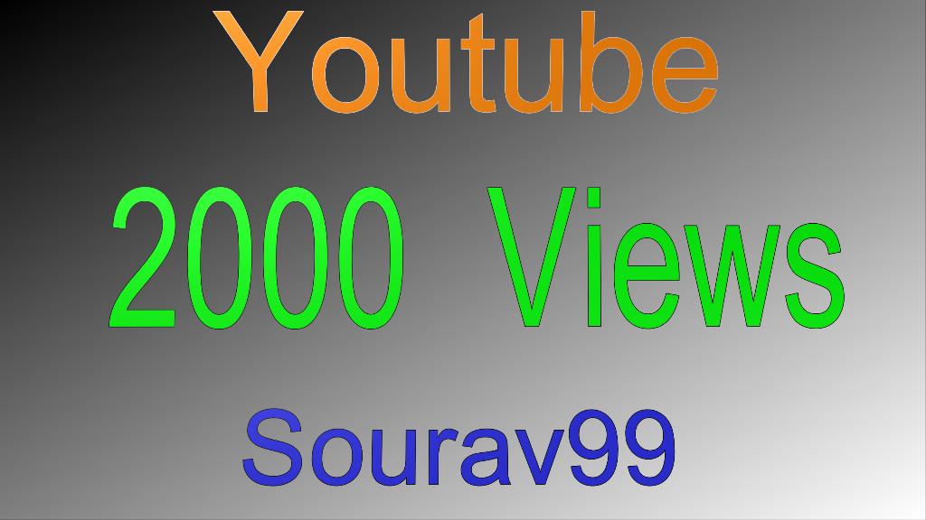 1000 High retention Views fast speed