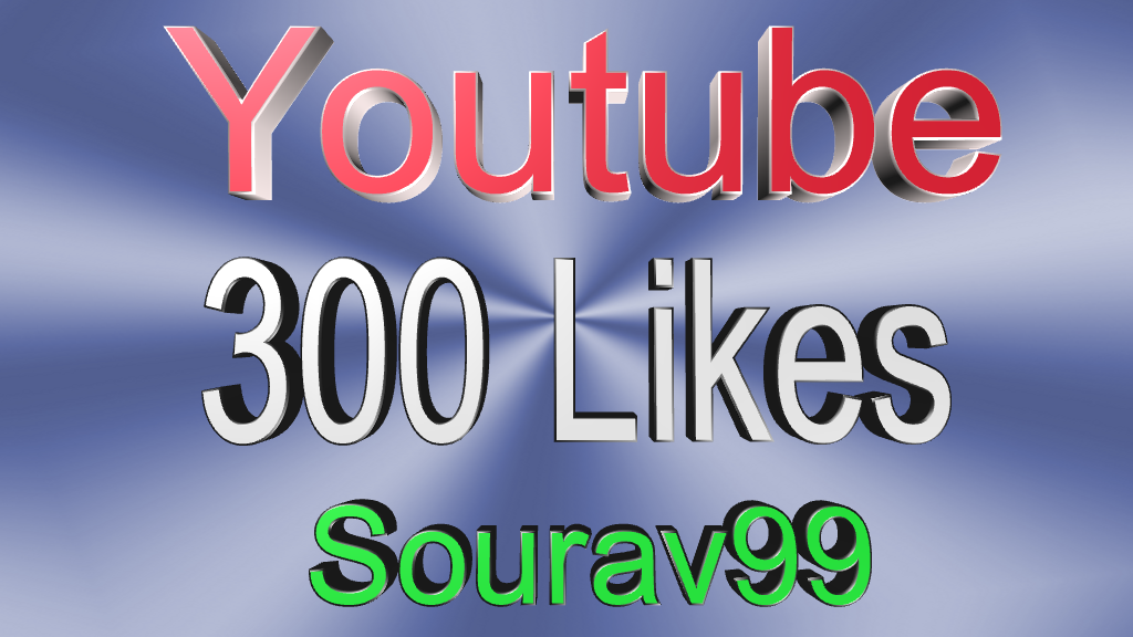 Youtube 1000+ Views Or 300 High quality Likes for your video