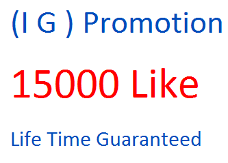 Get 15000 instant Real and permanent service on Your post,photos or videos