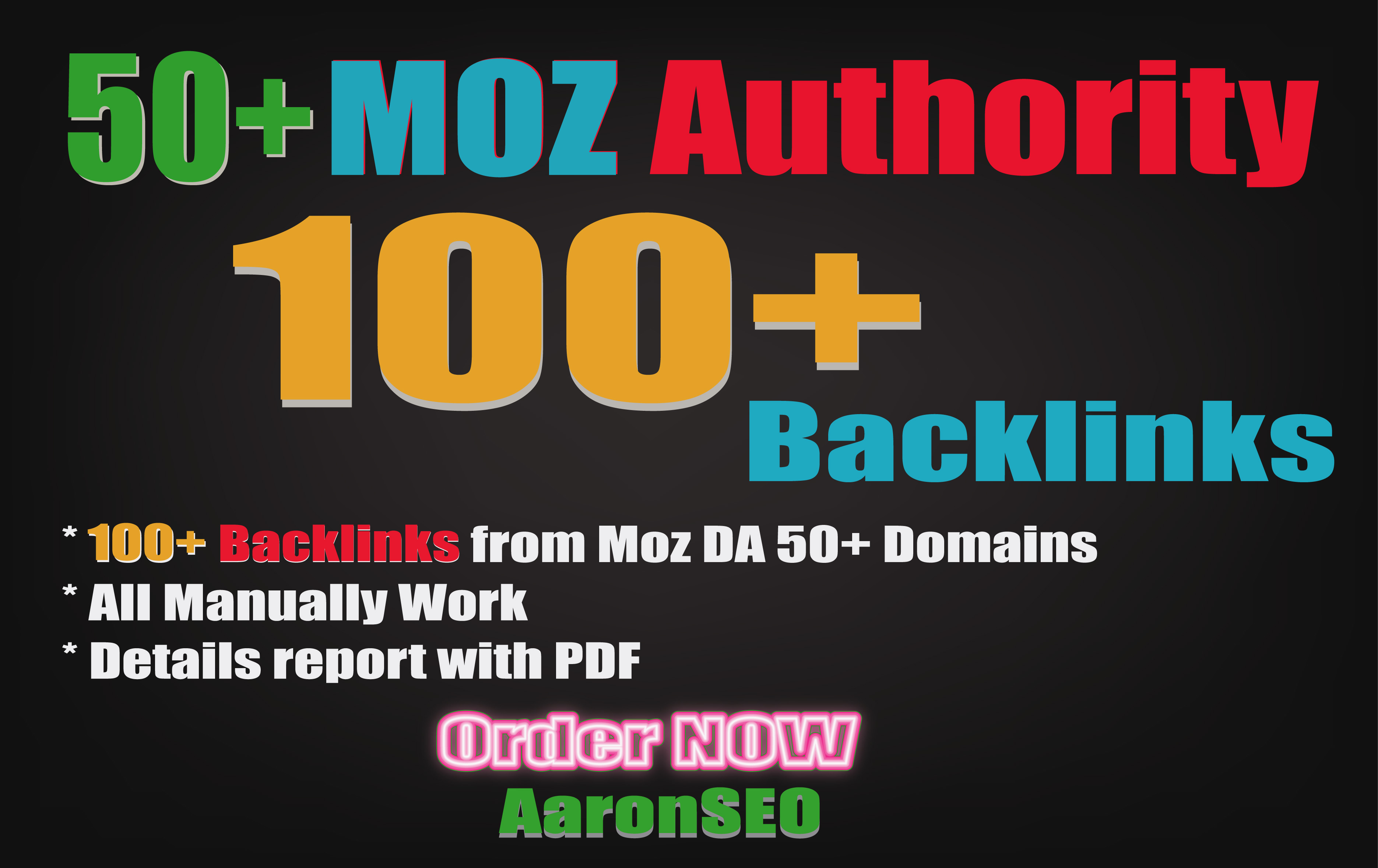 100 Manually Backlinks from Moz DA 50+ Trusted Domains