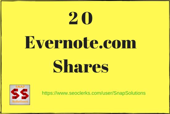 Bring You 20 Evernote. com App Shares Manually For Your URL