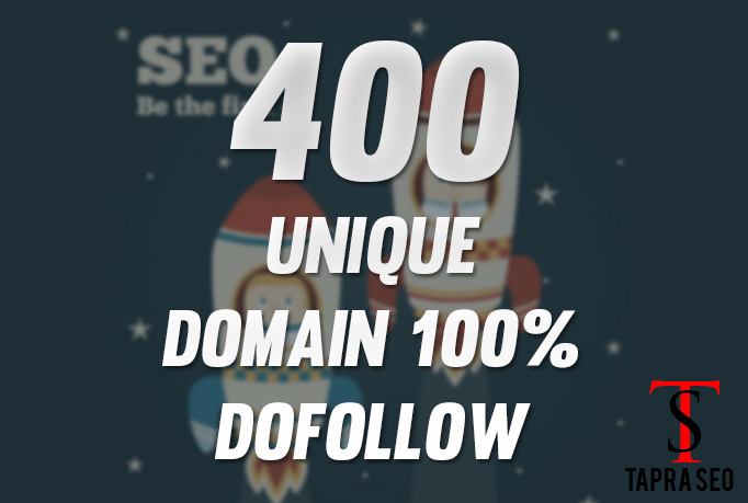 Provide 400 Backlinks 100 percent unique domains dofollow pages