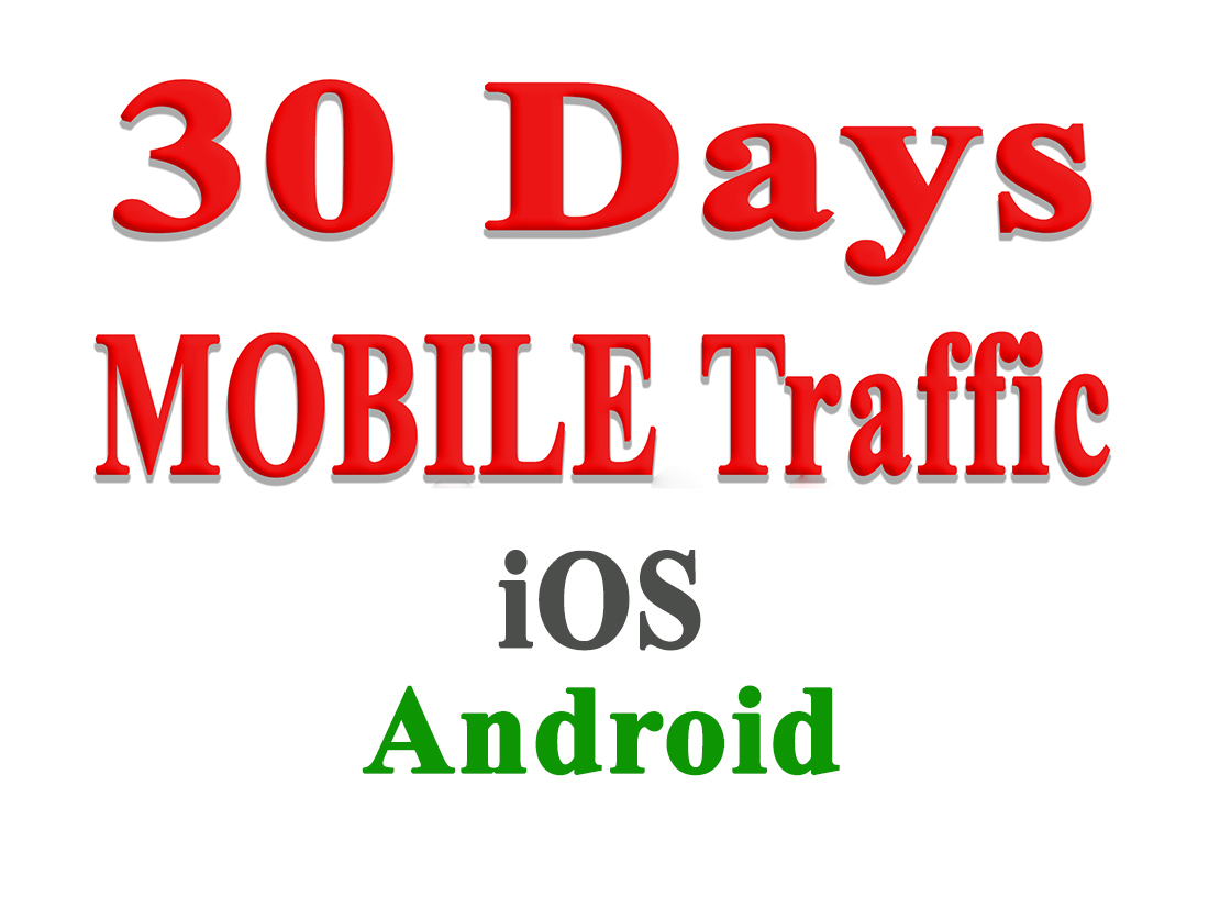 30 Days MOBILE Web Traffic