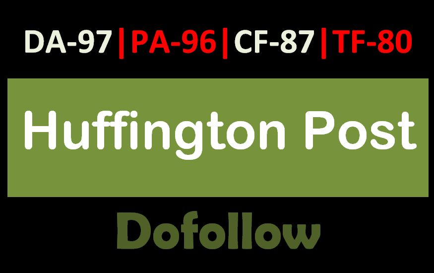 Guest Post on Huffington Post for Dofollow Backlink