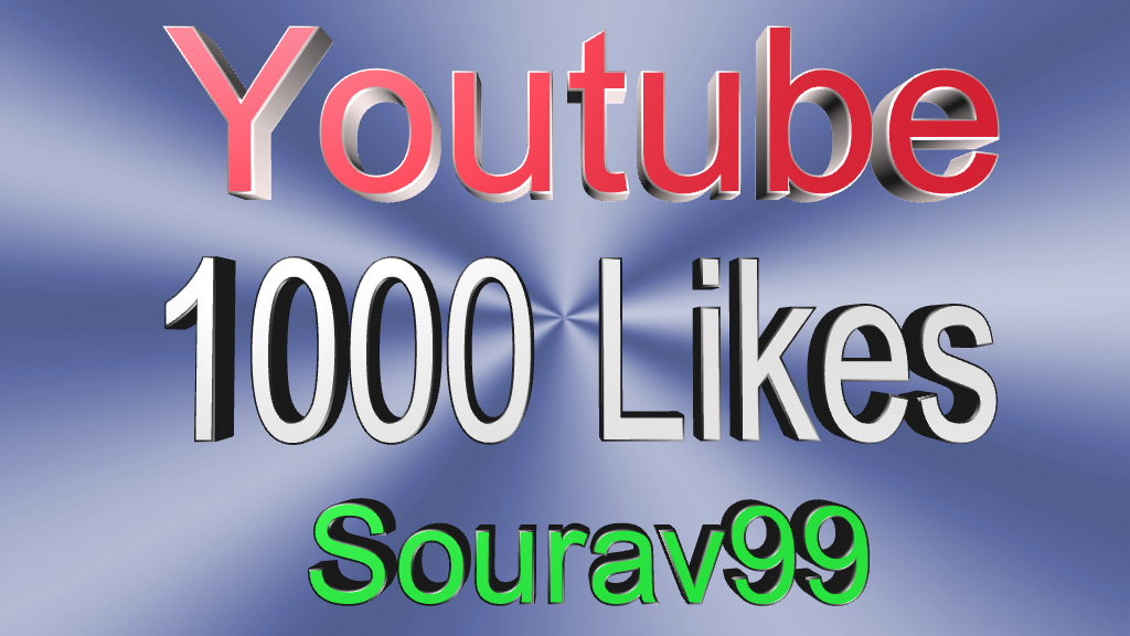 1000+ youtube likes for your videos