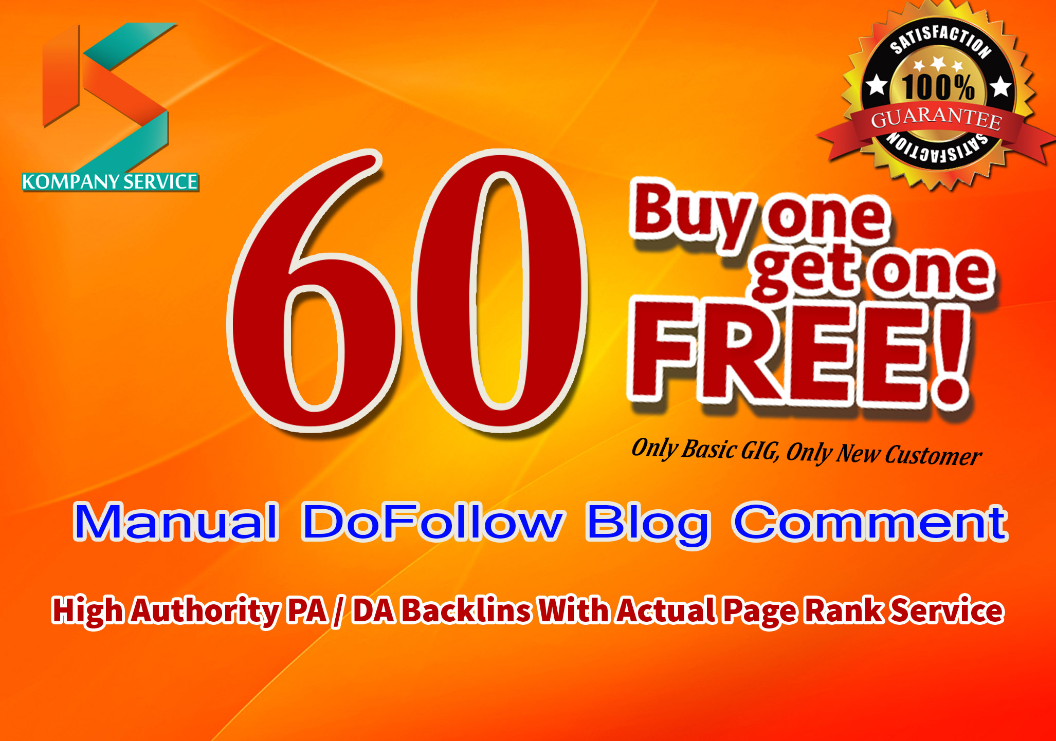 Provide 60 Manual do follow blog comments on high pa da links