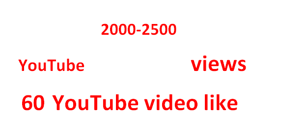 split able 2000-2500 HR YouTube views+ 60 Video like