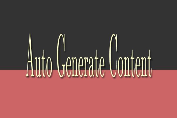 Create auto generate content AGC website