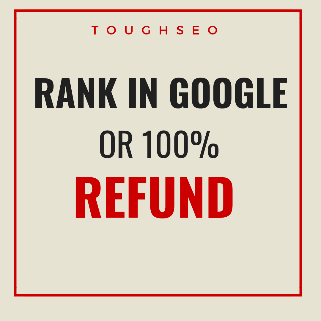 GUARANTEED GOOGLE RANKINGS IN 30 DAYS OR MONEY REFUND**
