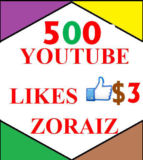 500 high quality youtube likes or 100 youtube subscribes