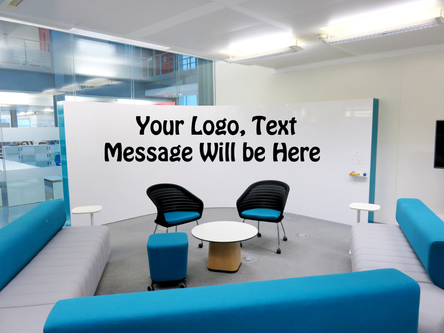 Display your logo, Text or Message on office walls mockups