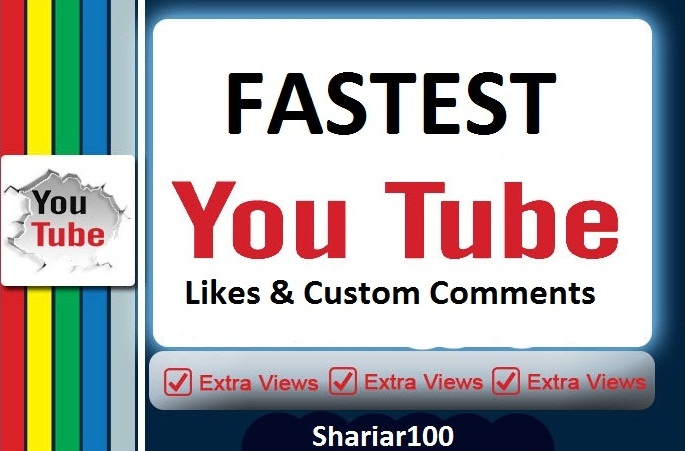 Fast 280+ Y-tube  L.ikes & 5 high quality custom com.ments instant  delivery