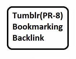 10 Tumblr PR-8 bookmarking backlinks For Website