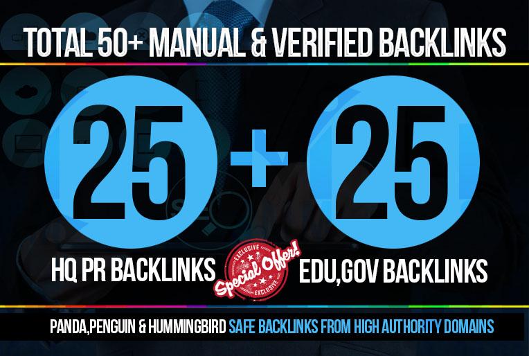 Manually do 50 PR9 Safe SEO High Pr Backlinks for skyrocket your RANKINGS